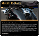 Website Portfolio, Mobile D-Tailz